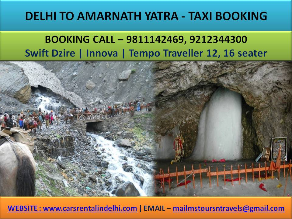 Amarnath Yatra Taxi Booking